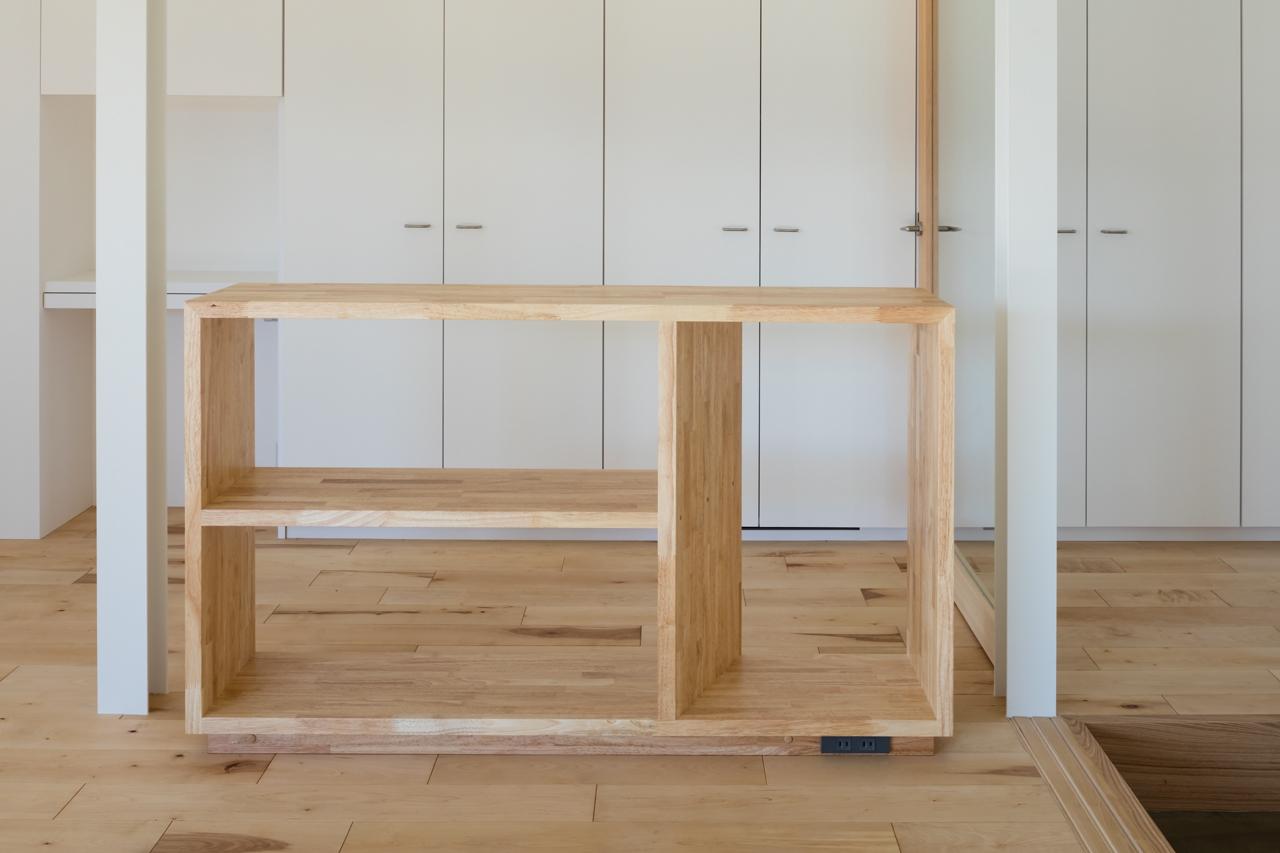 犬山の住宅 家具 シェルフ