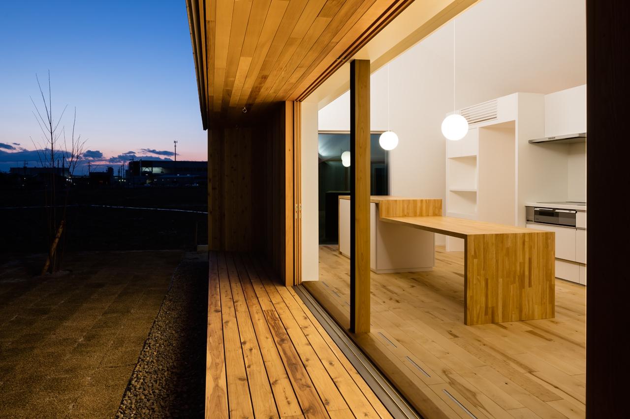 犬山の住宅 夕景